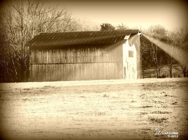 Photograph - Barn In The Twilight Zone by Ericamaxine Price