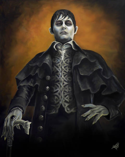 Johnny Depp Painting - Barnabus Collins - Johnny Depp by Tom Carlton