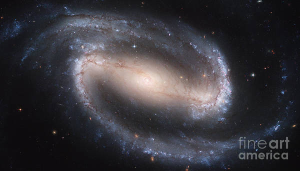 Photograph - Barred Spiral Galaxy, Ngc 1300 by Nasa
