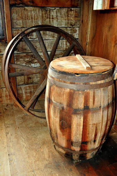 Photograph - Barrel And Wheel by Marty Koch