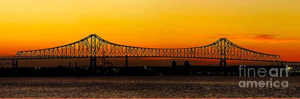 Photograph - Barry Bridge Sunset by Nick Zelinsky