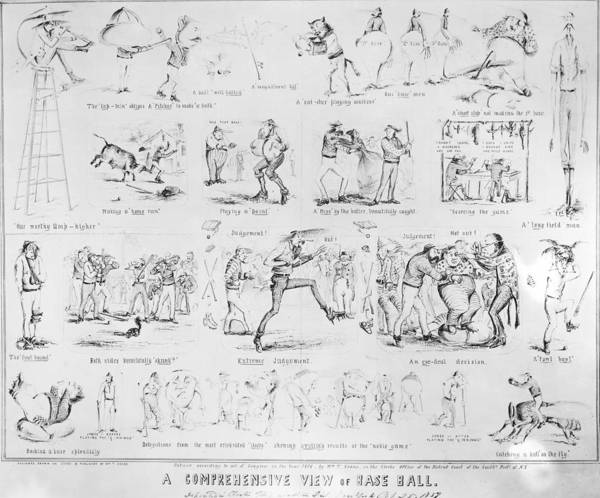 Photograph - Baseball Cartoons, 1859 by Granger