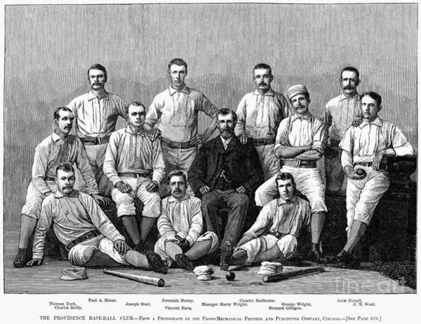 Photograph - Baseball: Providence, 1882 by Granger