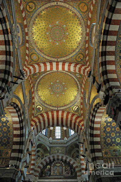 Wall Art - Photograph - Basilica Decorated Ceiling by Sami Sarkis