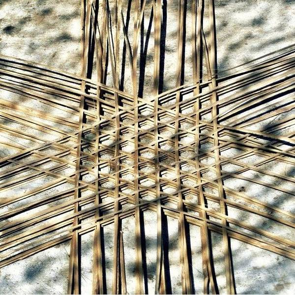 Basket Case.. Thailand #basketmaking Art Print