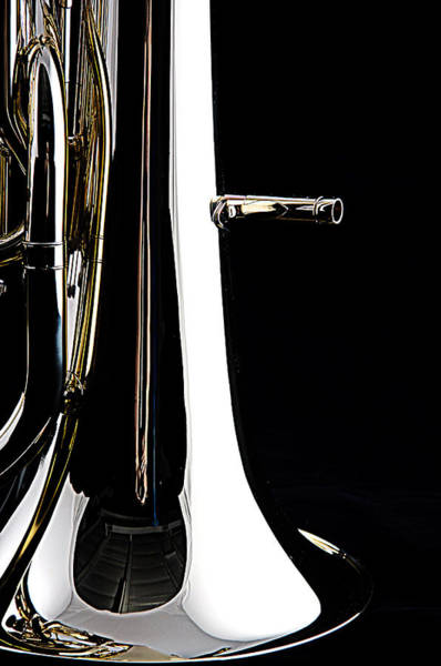 Photograph - Bass Tuba Bell Isolated On Black by M K Miller