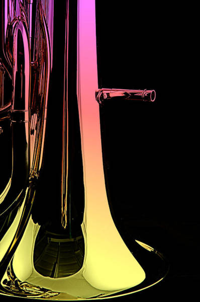 Photograph - Bass Tuba Isolated On Black by M K Miller