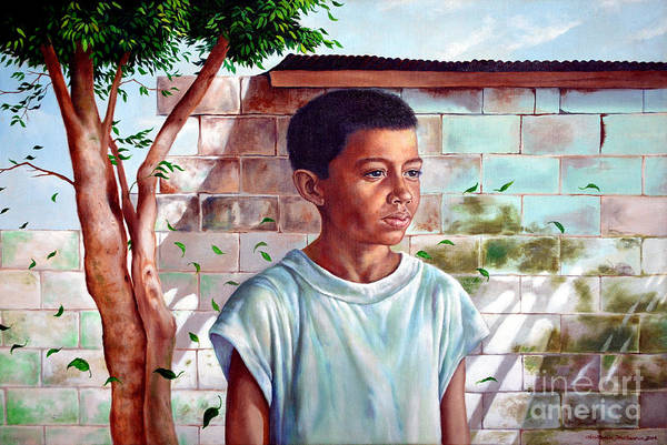 Painting - Bata The Filipino Child by Christopher Shellhammer