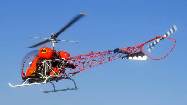 Copter Photograph - Batcopter by David Lee Thompson