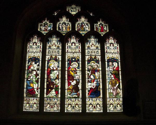 Bath Abbey Photograph - Bath Abbey Stained Glass by Jon Berghoff