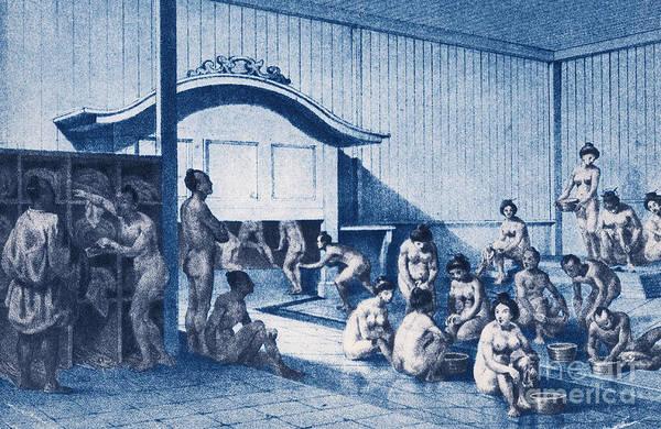 Photograph - Bath House, Japan by Photo Researchers