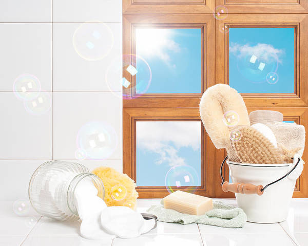 Bubble Bath Photograph - Bathroom Interior Still Life by Amanda Elwell