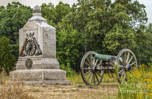 Battery D Wall Art - Photograph - Battery D 1st Ny Light Artillery At Gettysburg by Randy Steele