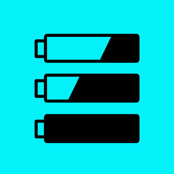 Low Battery Photograph - Battery Level Indicator by