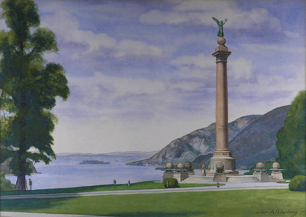 West Point Painting - Battle Monument  by Glen Heberling