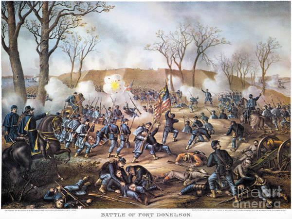 Allison Photograph - Battle Of Fort Donelson by Granger