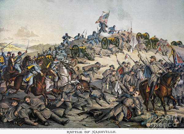 Allison Photograph - Battle Of Nashville, 1864 by Granger