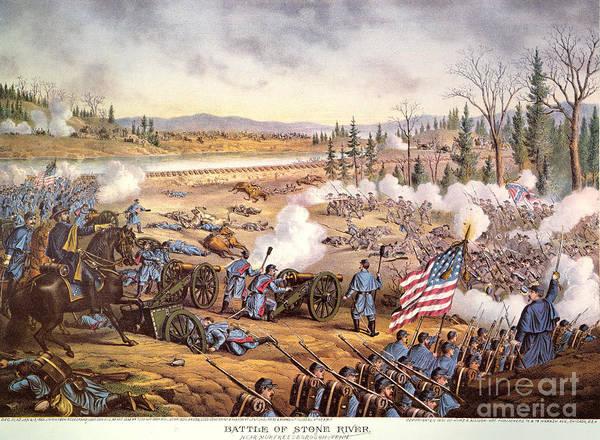 Allison Photograph - Battle Of Stones River, 1863 by Granger
