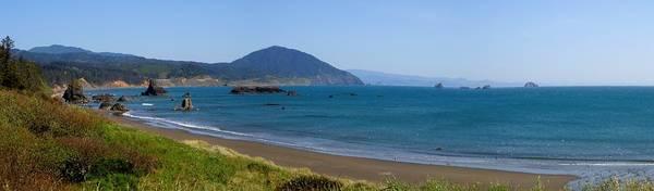 Oregon Coast Mixed Media - Battle Rock Beach by Tatiacha  Bhodsvatan