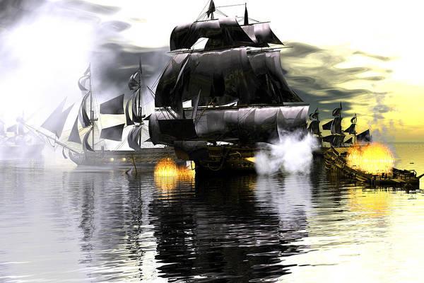 Bryce Digital Art - Battle Smoke by Claude McCoy