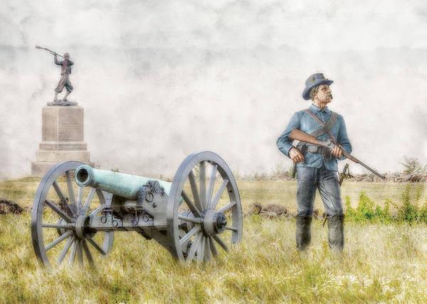 Artillery Digital Art - Battlefield Of Gettysburg by Randy Steele