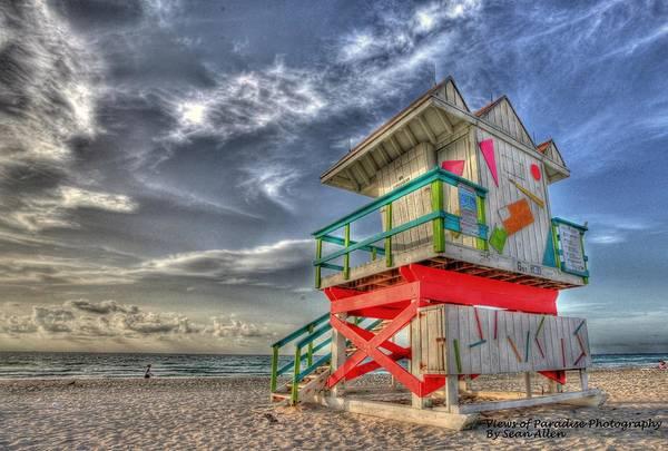 Photograph - Baywatch Miami by Sean Allen