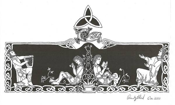 White Goose Drawing - Be Thou My Vision by Wendy ONeil
