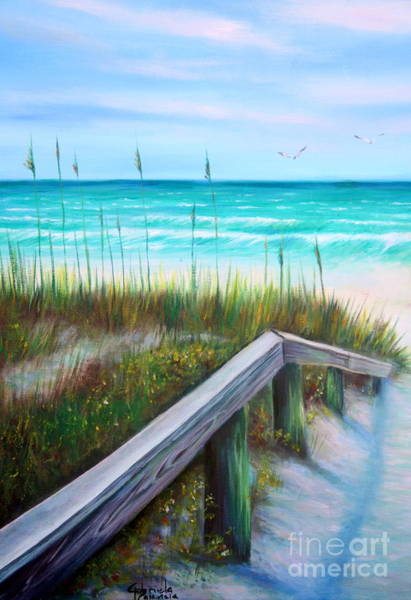 Wall Art - Painting - Beach Access At Pass-a-grille by Gabriela Valencia