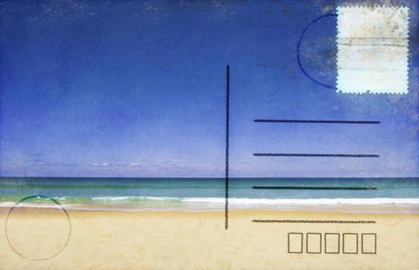 Wall Art - Photograph - Beach And Blue Sky On Postcard  by Setsiri Silapasuwanchai