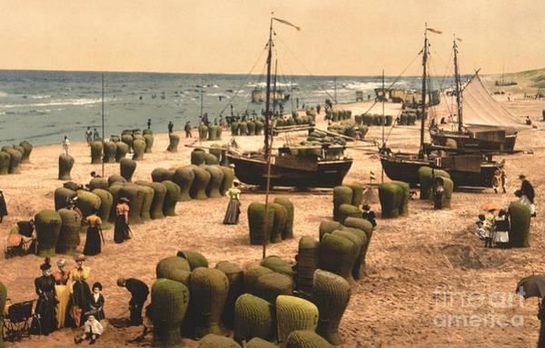 Scheveningen Photograph - Beach At Scheveningen Holland by Padre Art