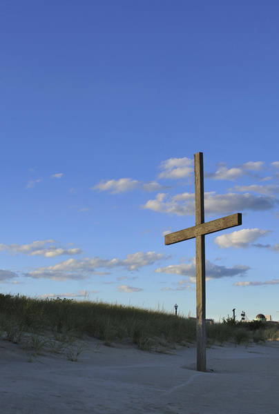 Photograph - Beach Cross by Terry DeLuco