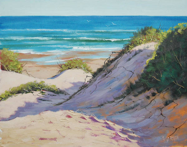 Surf Painting - Beach Dunes by Graham Gercken