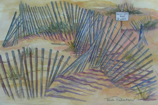 Painting - Beach Fences by Paula Robertson