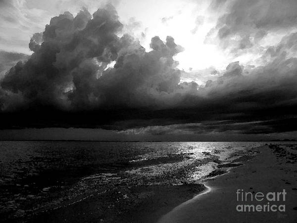 Photograph - Beach In Black And White by Jeff Breiman