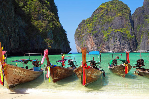 Phi Photograph - Beach In Phi Phi by Charline Xia