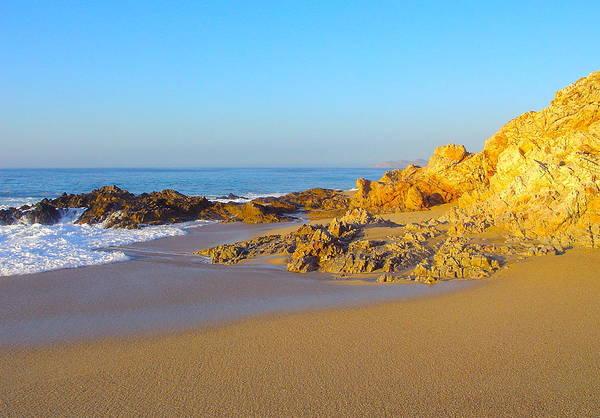 Wall Art - Photograph - Golden Morning Beach Of Los Cabos by Karon Melillo DeVega