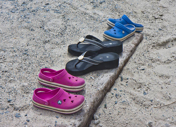 Flip Flops Photograph - Beach Shoes by Betsy Knapp