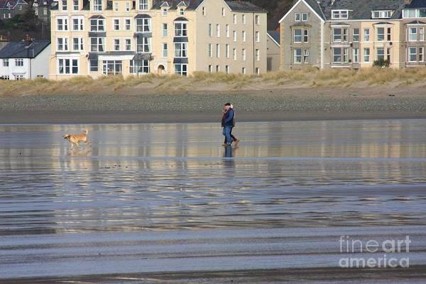 Barmouth Photograph - Beach Stroll by Ed Lukas