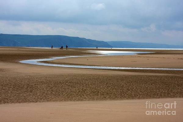 Barmouth Photograph - Beach Sweep by Ed Lukas