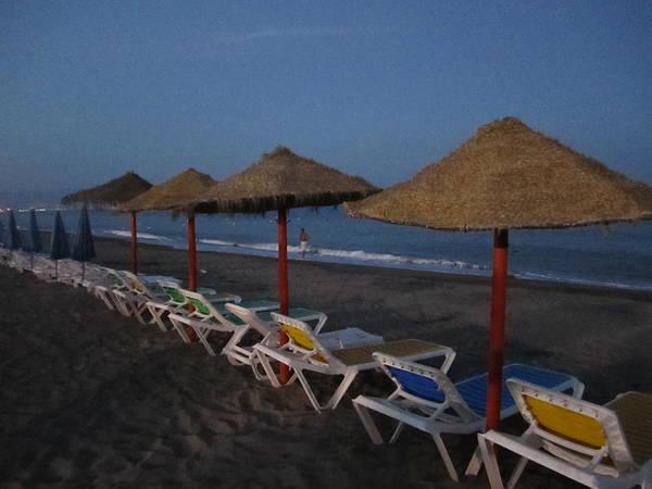 Photograph - Beach Umbrellas Costa Del Sol Spain by John Shiron