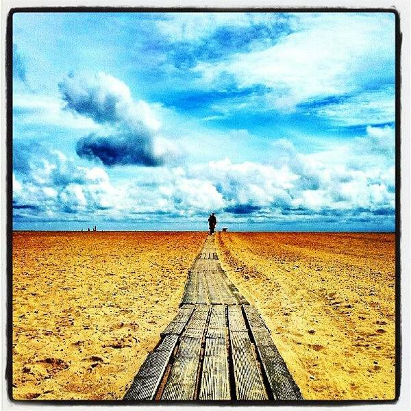Norfolk Photograph - Beach Walkway #lowdownground #cloudporn by Invisible Man