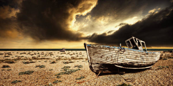 Fishing Boat Photograph - Beached In Color by Meirion Matthias