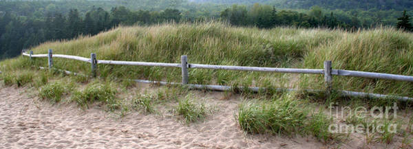 Oceanfront Photograph - Beachside Fence Panorama by Chris Hill
