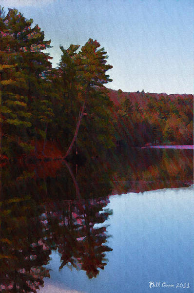 Poconos Wall Art - Photograph - Bear Creek Lake In The Poconos by Bill Cannon