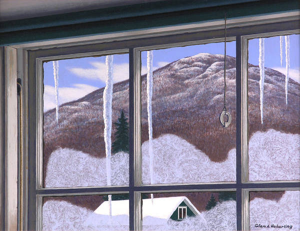 West Point Painting - Bear Rock Mountain From The Artist's Studio  by Glen Heberling