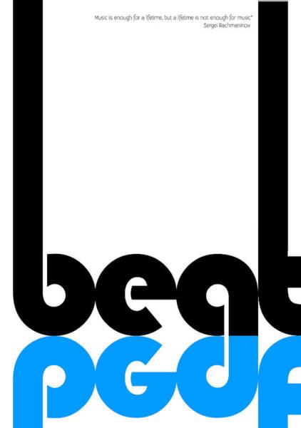 Rock Music Digital Art - Beat Poster by Naxart Studio