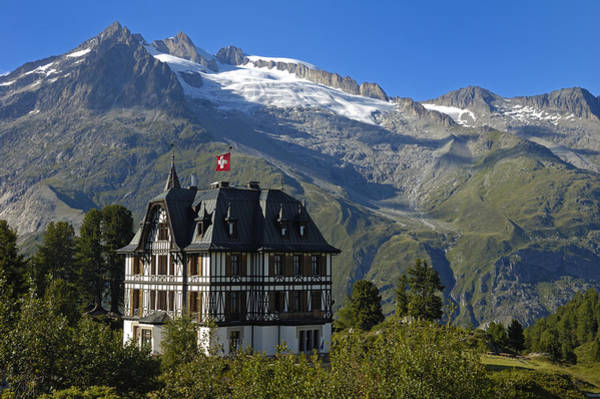 Photograph - Beautiful Mansion In The Swiss Alps by Matthias Hauser