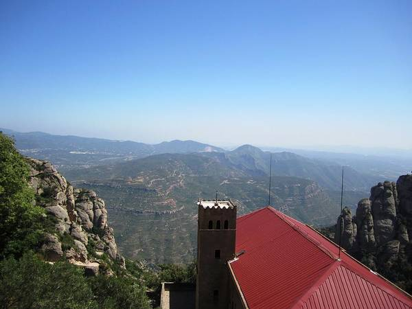 Photograph - Beautiful Montserrat Monastery Mountain View IIi High Above In Spain Near Barcelona by John Shiron