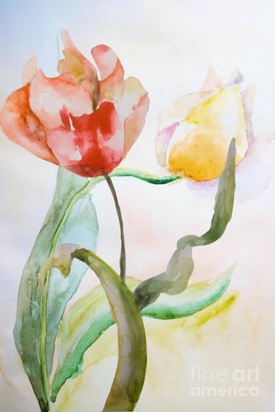 Pistil Painting - Beautiful Tulips Flowers  by Regina Jershova