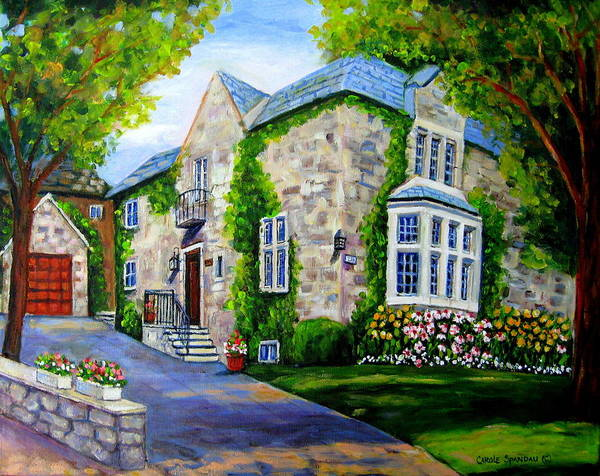 Painting - Beautiful Westmount Home by Carole Spandau